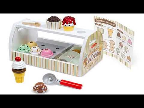 Melissa And Doug Wooden Scoop And Serve Ice Cream Counter