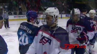 U18 Worlds: Game Highlights - USA vs. FIN (4/23/16)