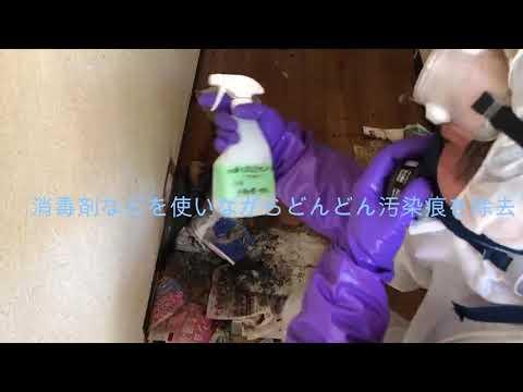 【孤独死のあった部屋の清掃】特殊清掃一次処理