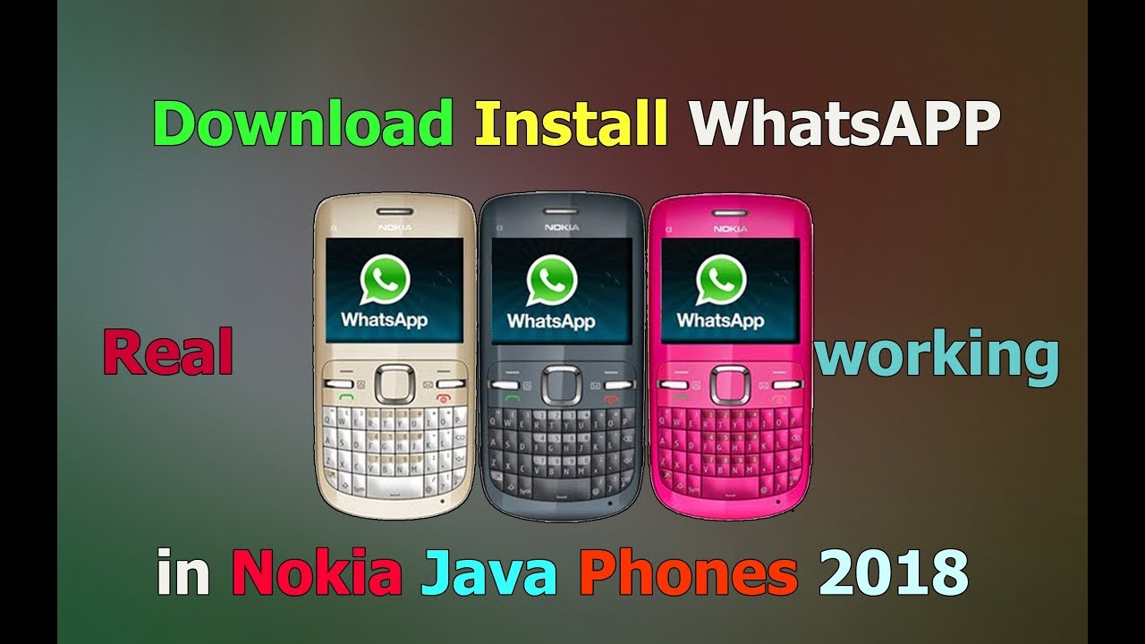 Download and install WhatsApp in Nokia Java Phones