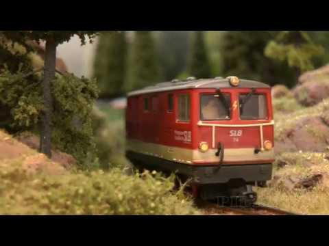 The Magic of Backdrops for Model Railroad Layouts: Narrow-gauge Railway in Salzburg in Austria