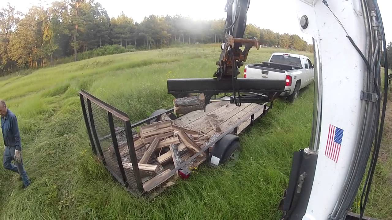 Excavator Log Splitter Bobcat Wood Mini Ex Midi Trackhoe