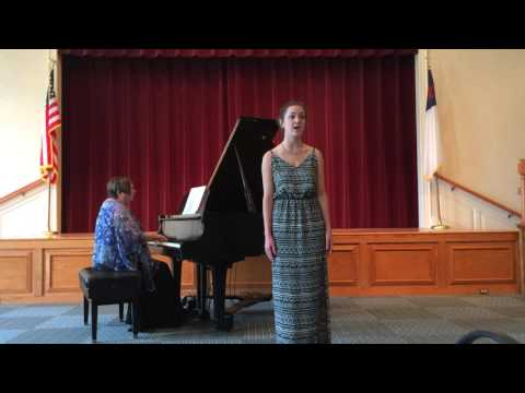 "Amanda Pearce singing ""Blow, blow, thou winter wind"" by Thomas Augustine Arne"