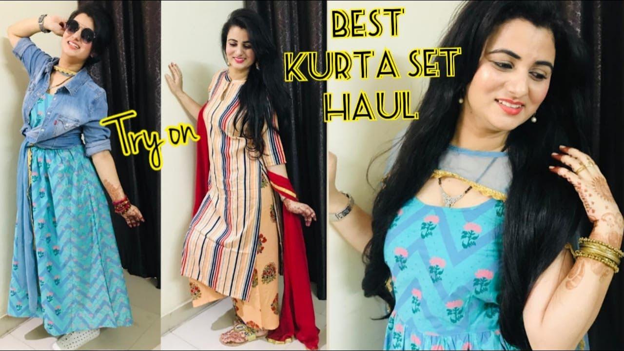 💥Myntra Kurta Haul💥   Affordable Cotton Maxi Dress Review   Flipkart Affordable Kurta Set Haul