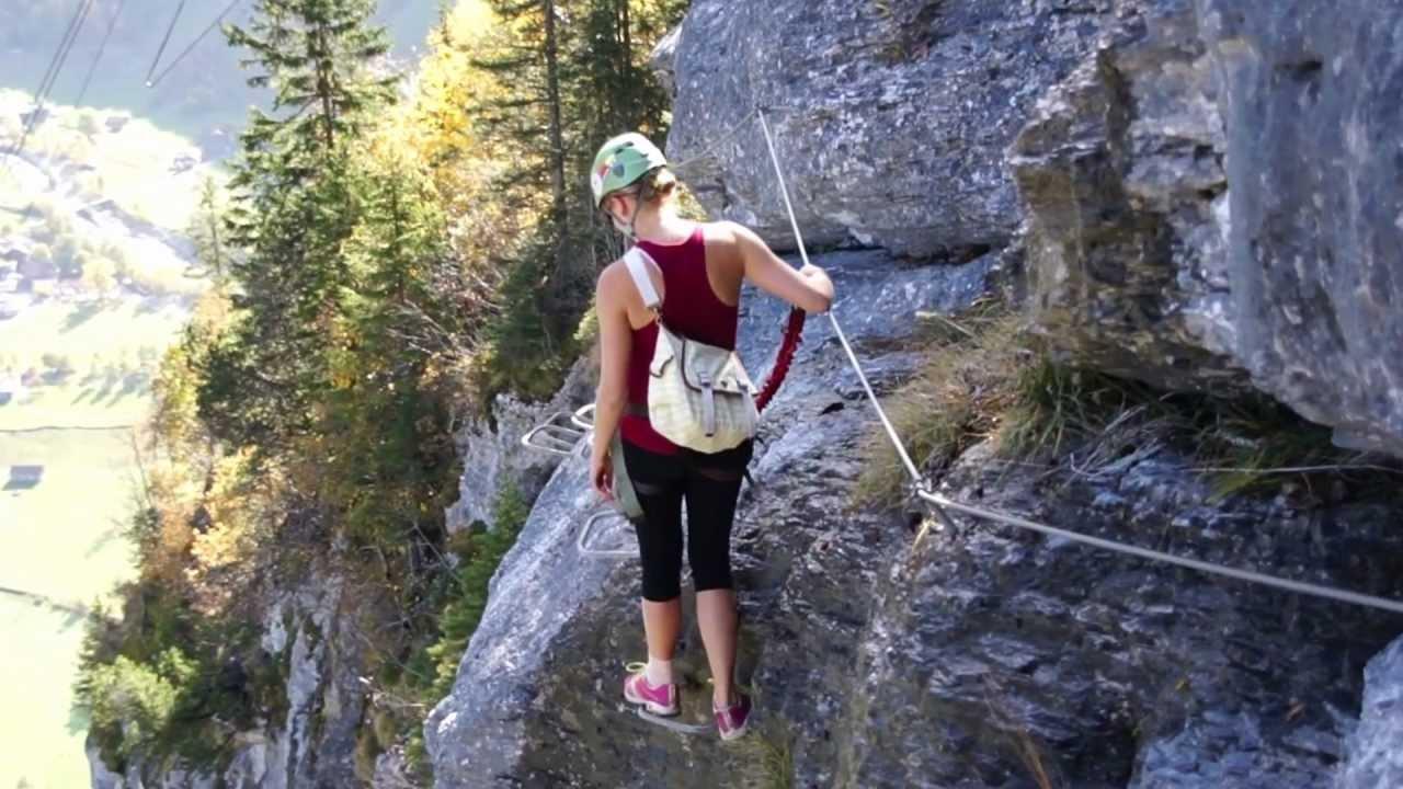 Klettersteig Mürren : Klettersteig mürren youtube