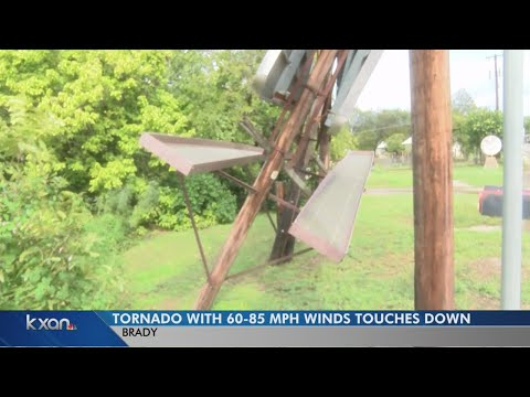 Tornado with 85 mph winds causes damage in Brady, Texas