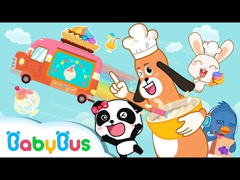 Baby Panda Ice Cream & Smoothies Truck Kiki & Miumiu Have Chocolate Strawberry Ice Cream Playset