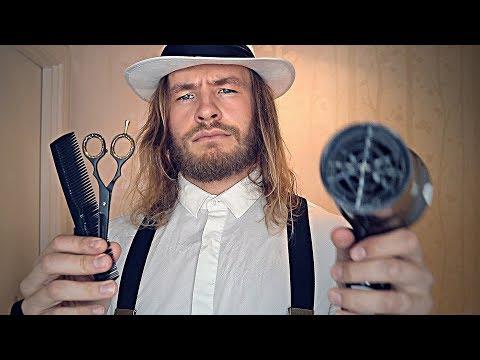 Rude English Barber Shop Haircut ✂ 💈 ASMR