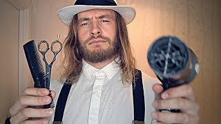 Rude English Barber Shop Haircut ✂ 💈 ASMR