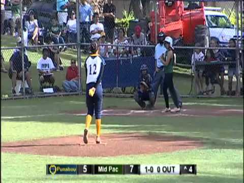 2012 Softball: Punahou vs. Mid-Pacific Institute (April 17, 2012)