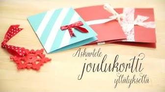 Askartele joulukortti yllätyksellä