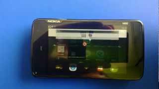 Nemo 2012.08.31 running on Nokia N900 (New UI)