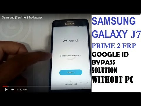 MAY 2018 Samsung j7 prime 2(SM-G611) FRP/Google ID Bypass