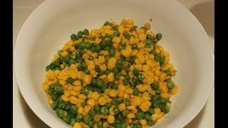 How to cook Green Peas and Corn | Quick Snacks Recipe