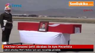 PKK'lının Cenazesi Şehit Akrabası ile Aynı Mezarlıkta