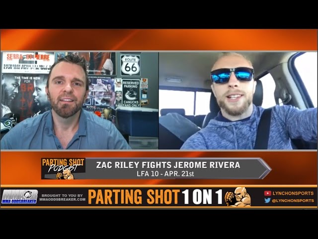"""LFA 10's Zac Riley """"I don't really care what Jerome Rivera is good at, I'm dictating the fight"""""""