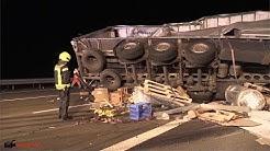 Katastrophale Rettungsgasse bei schwerem LKW-Unfall auf A3 bei Siegburg | 12.12.2019