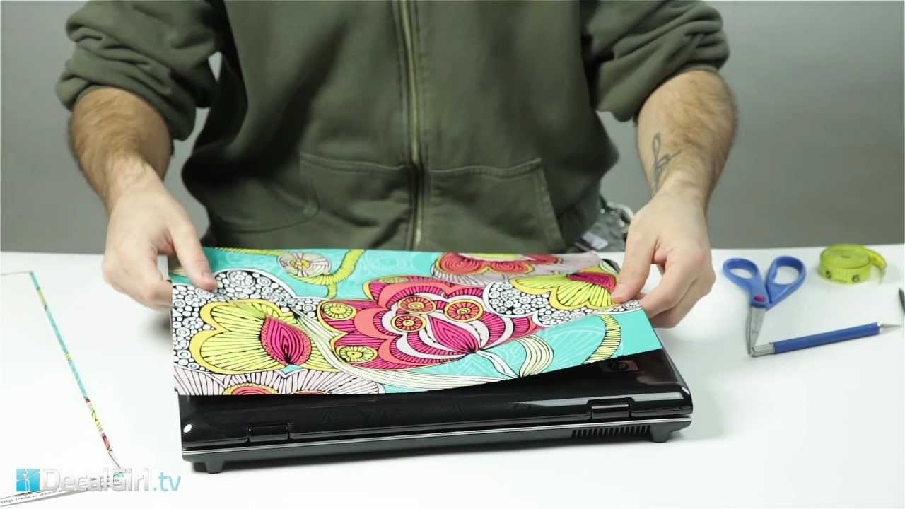 Universal Laptop Skin Installation DecalGirl YouTube - How to make laptop decals at home