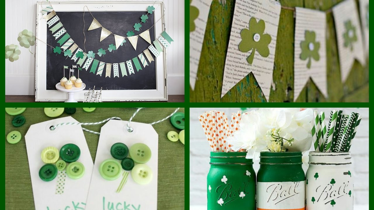 St Patricks Day Decor Ideas Diy Saint Patrick Crafts Inspo Spring Decorating