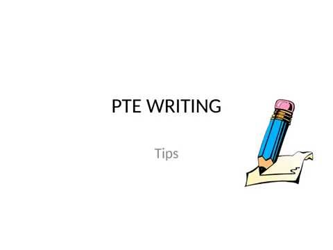 Pay for writing an essay tips pte