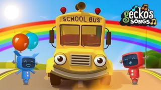 Funny Sunny School Bus Song Gecko's Garage Funny Cartoon For Kids Learning Videos For Toddlers