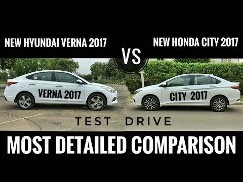 NEW HYUNDAI VERNA 2017 VS NEW HONDA CITY 2017 DETAILED COMPARISON, PRICE, TEST DRIVE, FEATURES