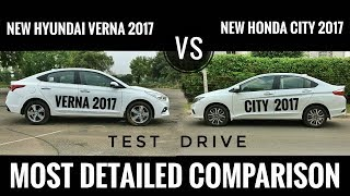 NEW HYUNDAI VERNA 2017 VS NEW HONDA CITY 2017 DETAILED COMPARISON, PRICE, TEST DRIVE, FEATURES