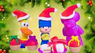Pocoyo Christmas Play Doh Set Play-doh Candy Jar Pocoyó En Navidad Pato Elly Покојо Let's Go Pocoyo