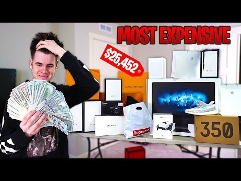 Buying The Most EXPENSIVE Items in EVERY STORE Challenge