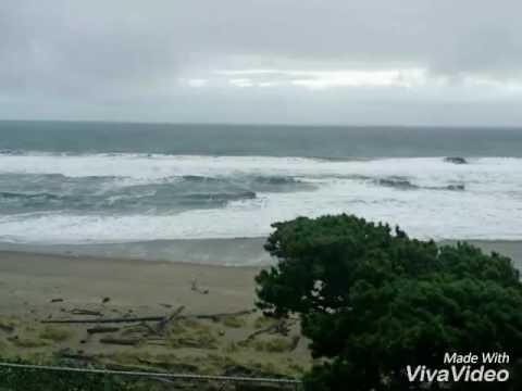 Неожиданная волна.Тихий океан.😃11.12.16