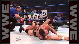 Kurt Angle Breaks Randy Orton's Ankle - Smackdown April 14, 2006