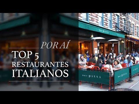 Top 5 Restaurantes Italianos - Por aí com Camilla