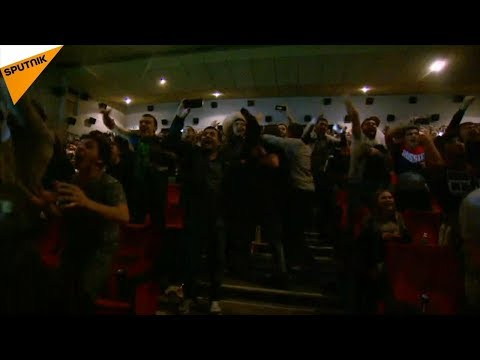 Russia: Fans in Makhachkala Celebrate Khabib's Win Over McGr