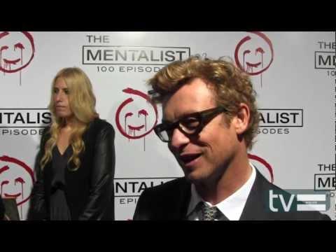Simon Baker at The Mentalist Season 5 100th Episode Party