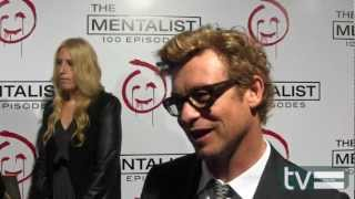 Simon Baker at The Mentalist Season 5 100th Episode Party