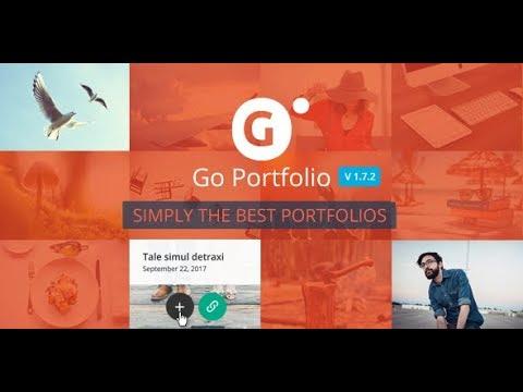 Wordpress плагин Go Portfolio 1.7.2 скачать бесплатно