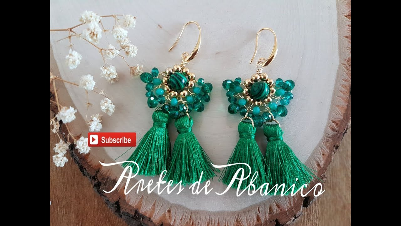 ARETES DE ABANICO FACIL DE HACER!!! Con Cecy Love Bisuteria - YouTube