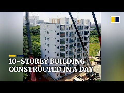 10-storey residential building in China constructed in a day