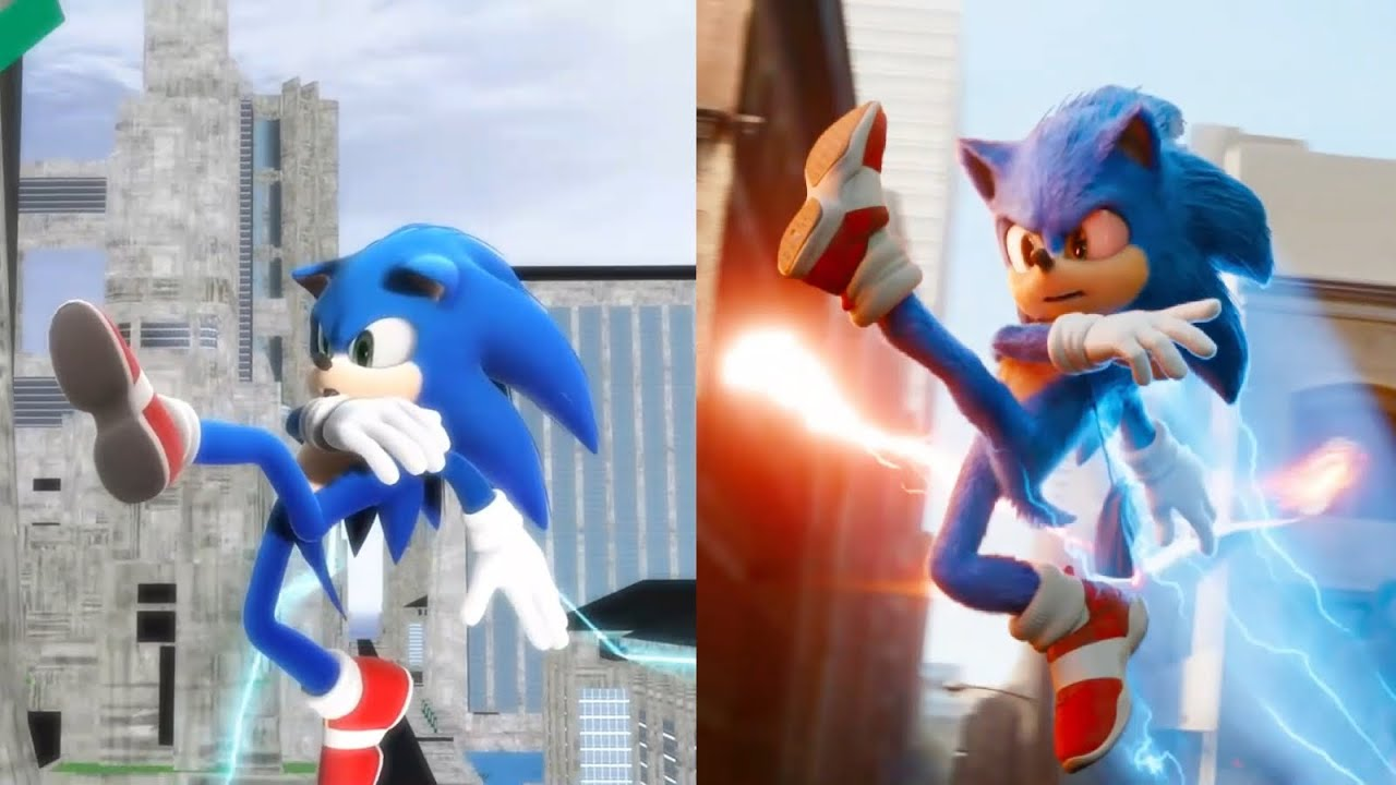 Modern Sonic V.S. Movie Sonic - All References and Easter Eggs