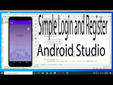 Create Simple Login And Signup /Register  Form In Android Studio 3.6 - Tech Aside