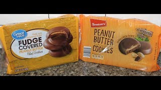 Great Value Walmart Vs Benton S Aldi Peanut Butter Filled Cookies Blind Taste Test Youtube