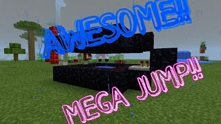 Minecraft PE HOW TO MAKE MEGA JUMP MACHINE