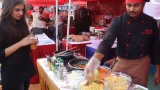 Pasta by cookifi chef at food fete 2 bangalore - Indian street food