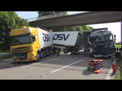 23.05.2017 - Lkw-Auffahrunfall auf der A61