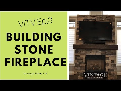 How to install a STONE FIREPLACE and FIREPLACE MANTEL