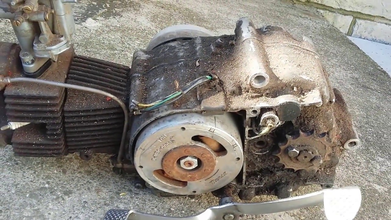 small resolution of 1964 honda c100 cub scooter pushrod engine youtube 1964 honda 50 engine diagram