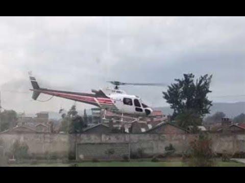 Helicopter crashes in Lake Nakuru