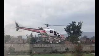 Helicopter crashes in Lake Nakuru