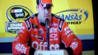 Tony Stewart telling it like it is to the media. Press conference
