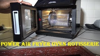 How to Use the Power Air Fryer Oven Rotisserie and Accessories